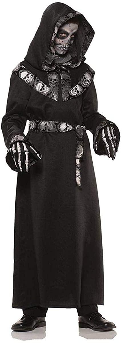 Skull Master Hooded Robe Child Costume