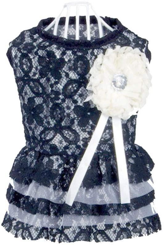 Baidercors Lace Elegant Dog Princess Dress Puppy Clothes