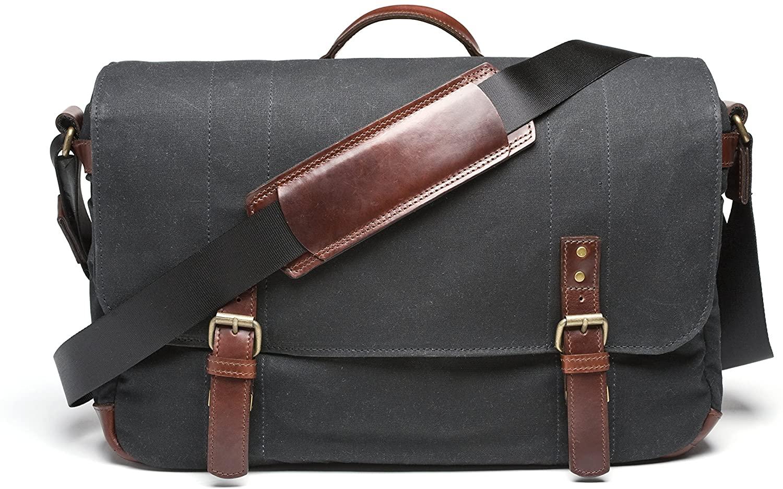 ONA - The Union Street - Camera Messenger Bag - Black Waxed Canvas (ONA5-003BL)