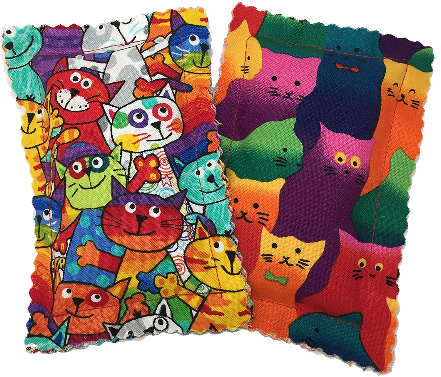 Johnson Pet Products Catnip Pillow Sacks Two Pack Crazy Cat III- Handmade in The USA