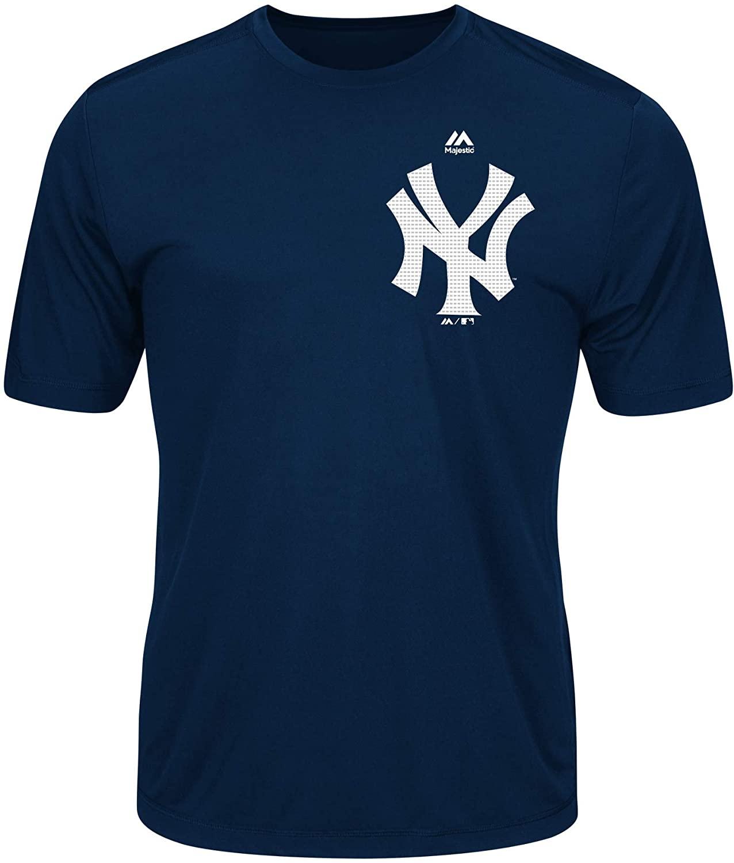 Majestic MLB Yankee Adult Evolution Tee T-Shirt Size Large Navy