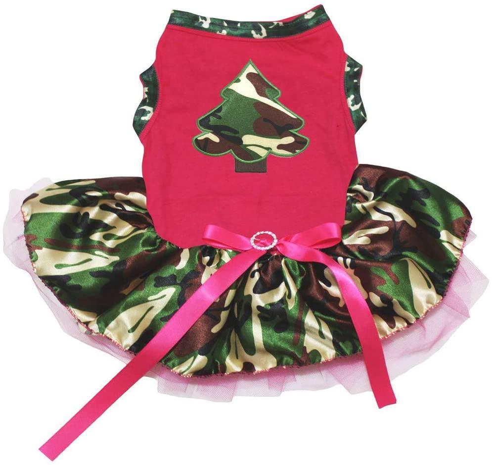 Petitebella Camo Tree Cotton Shirt Camouflage Tutu Puppy Dog Dress