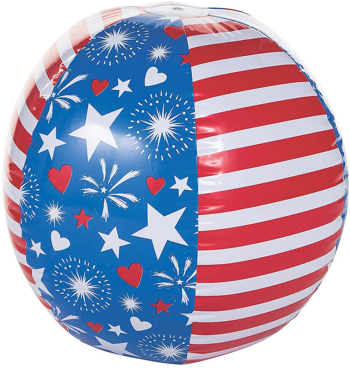 Fun Express - Patriotic Giant Beach Ball for Fourth of July - Toys - Inflates - Beach Balls - Fourth of July - 1 Piece