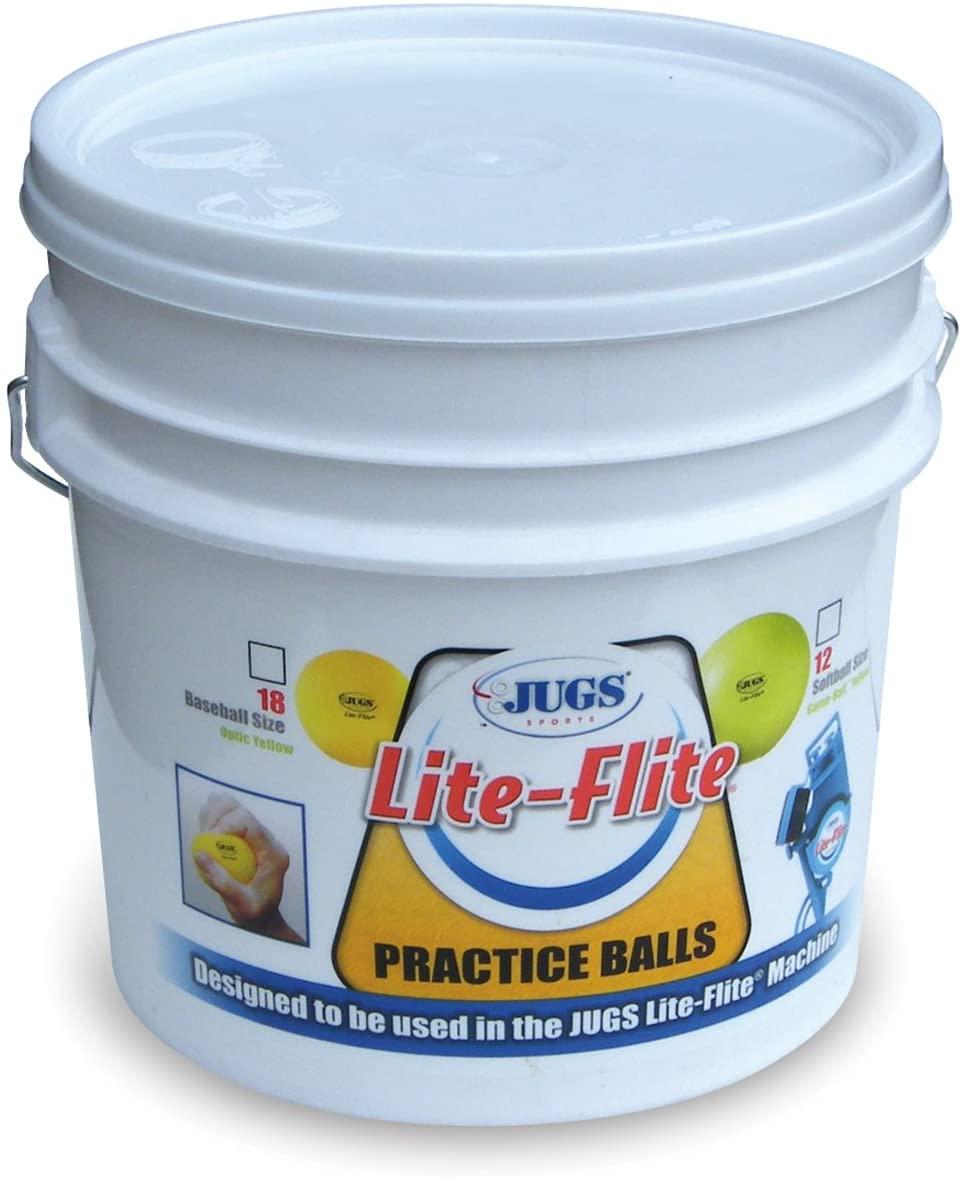 Jugs Lite-Flite Baseballs with Bucket