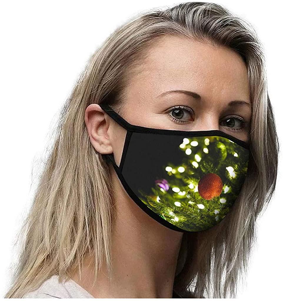 Reusable Breathable Washable Women Sunscreen Dust-proof Protective Christmas Printed Face Bandanas