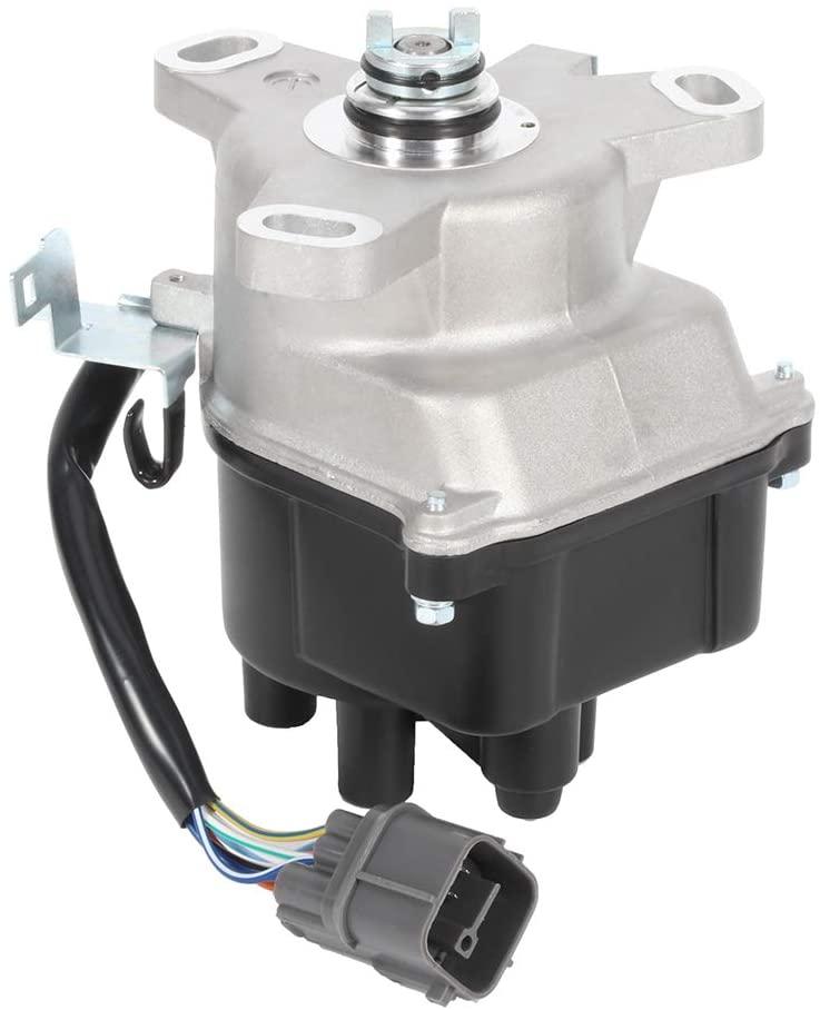 TUPARTS New Ignition Distributor w/Cap + Rotor Fits for Acura EL Honda Civic Honda Civic del Sol 1996-1998 for DST17420 3117420 TD80U