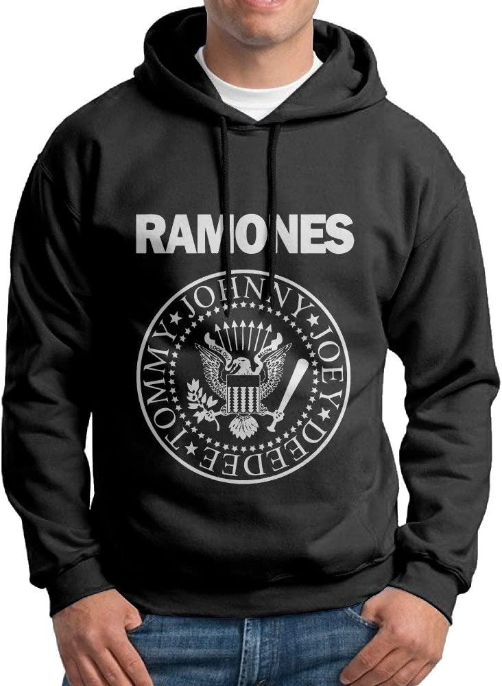 KPaIil Ramones Punk Band Pullover Hooded Adult Black Sweatshirt Hoodie