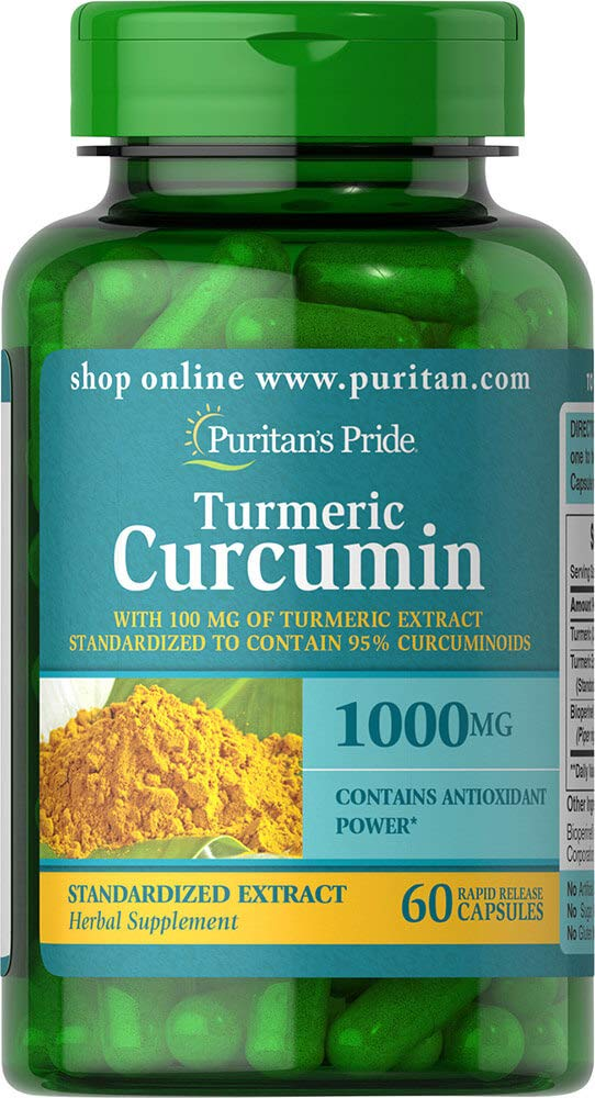 Puritan's Pride Turmeric Curcumin 1000 mg-60 Capsules by Puritan's Pride