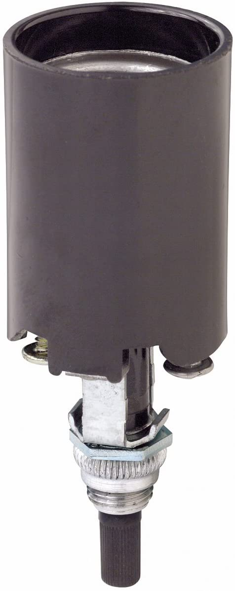 Leviton 4155 004-0-000 1-Circuit 1-Piece Lamp Holder, 660 W, Incandescent, Medium, Black