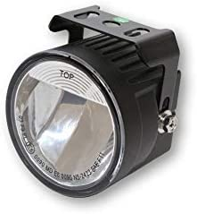 Motorize HIGHSIDER LED Fog Lights, Round, Black,