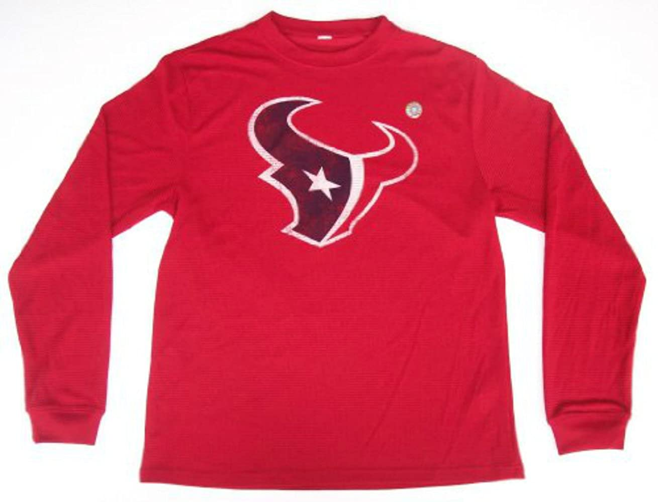 Houston Texans Red Size X-Large Long Sleeve Thermal Waffle Shirt