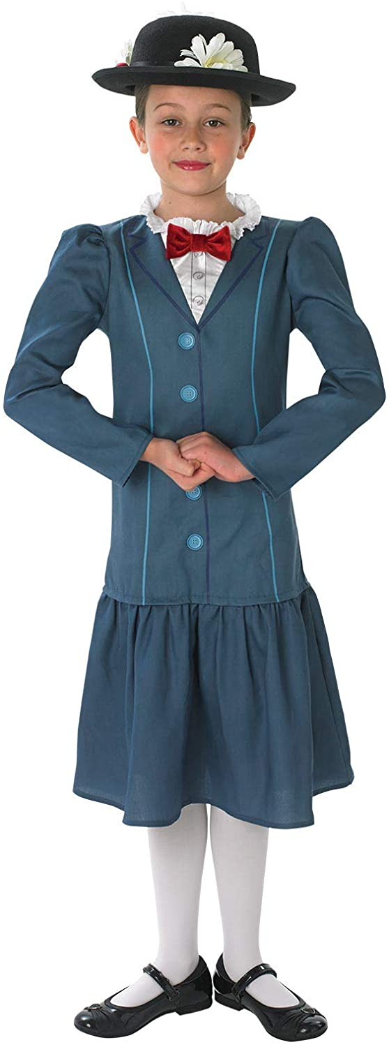 Official Disney Girls Mary Poppins Rich Victorian Book Day Week Fancy Dress Costume Outfit Ages 3-10 Years (9-10 Years)
