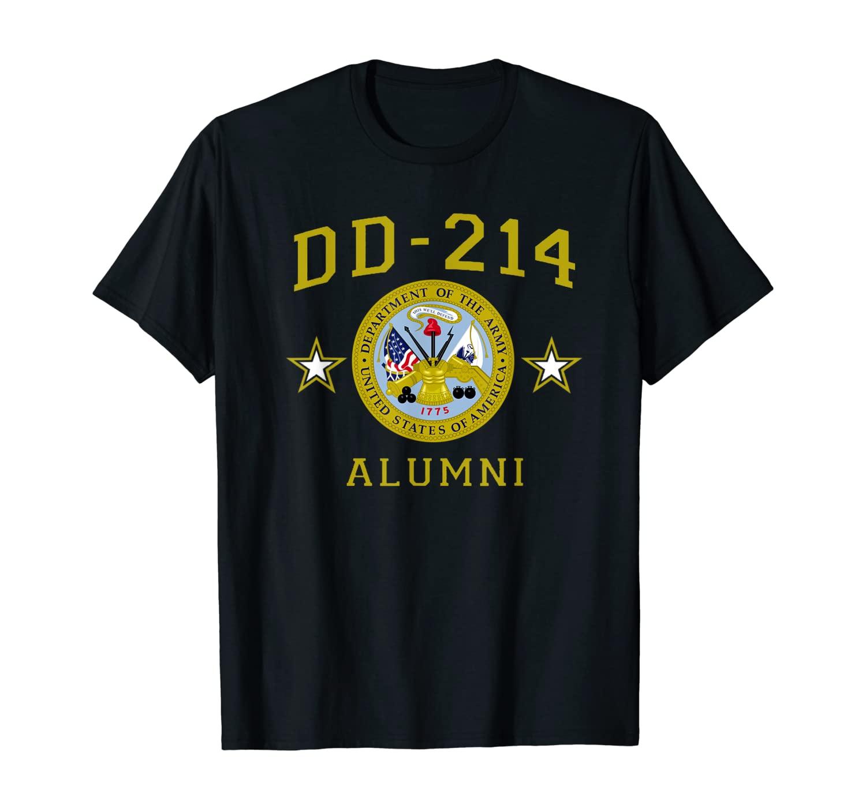 U.S. Army Veteran DD-214 Alumni Gift Proud DD214 Insignia T-Shirt