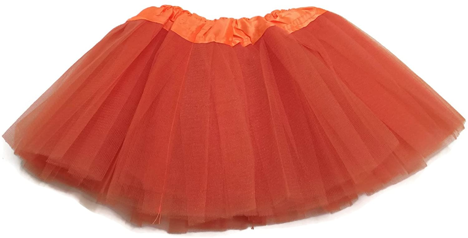 Rush Dance Ballerina Infant/Little Girls Princess Fairy Costume Recital Tutu (Infant (Newborn - 3 Years), Orange)
