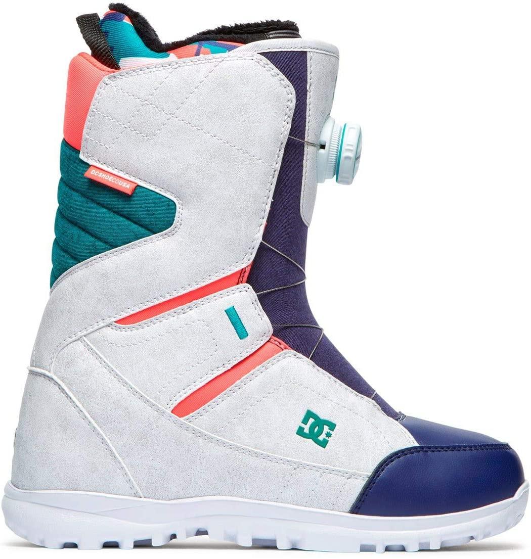 DC Search BOA Snowboard Boots Womens Sz 8 White Camo