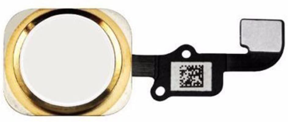 Replacement Home Button for iPhone 6S / 6S Plus with Flex Cable Touch ID Sensor Home Key Assembly (Gold) US Shipping