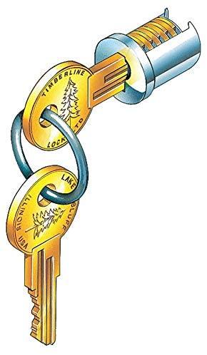 Lock Plug, Satin Nickel, Key 100T