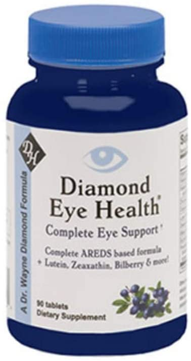 Diamond Eye Health – Complete Eye Support Dietary Supplement – Complete AREDS Based Formula – Non-GMO, Gluten Free, Vegan – 90 Tablets