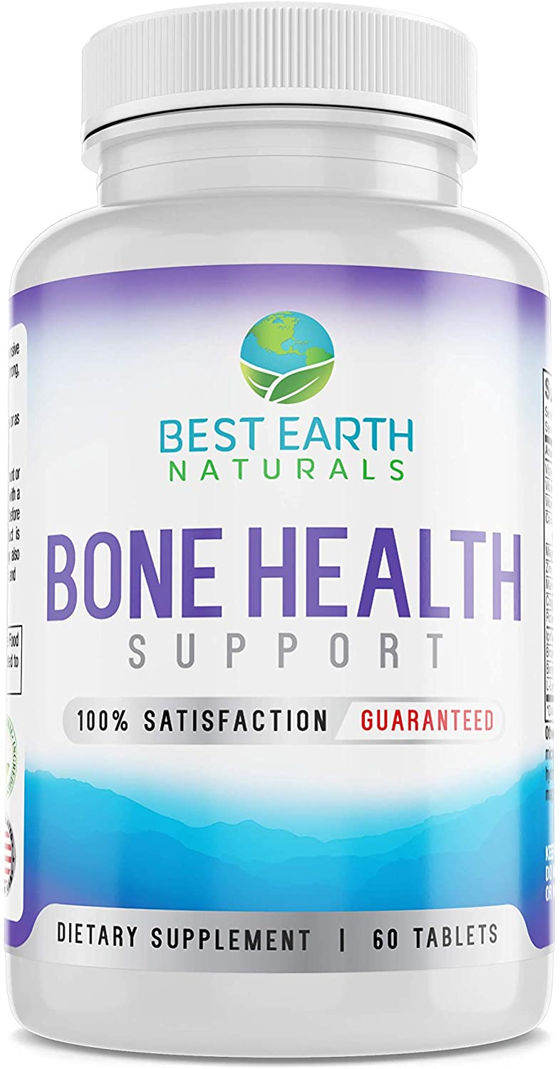Bone Health Support for Men and Women with Calcium and Bone Vitamins to Maintain Strong, Healthy Bones - 60 Tablets