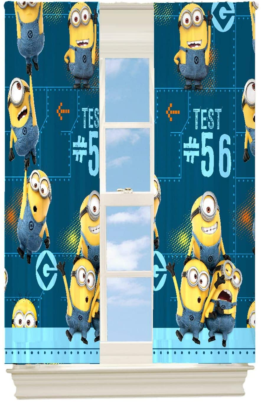 Minions Despicable Me Mishap 26 Room Darkening Window Curtain Panel for Kids 42 X 63 Inch Two Panels Per Package