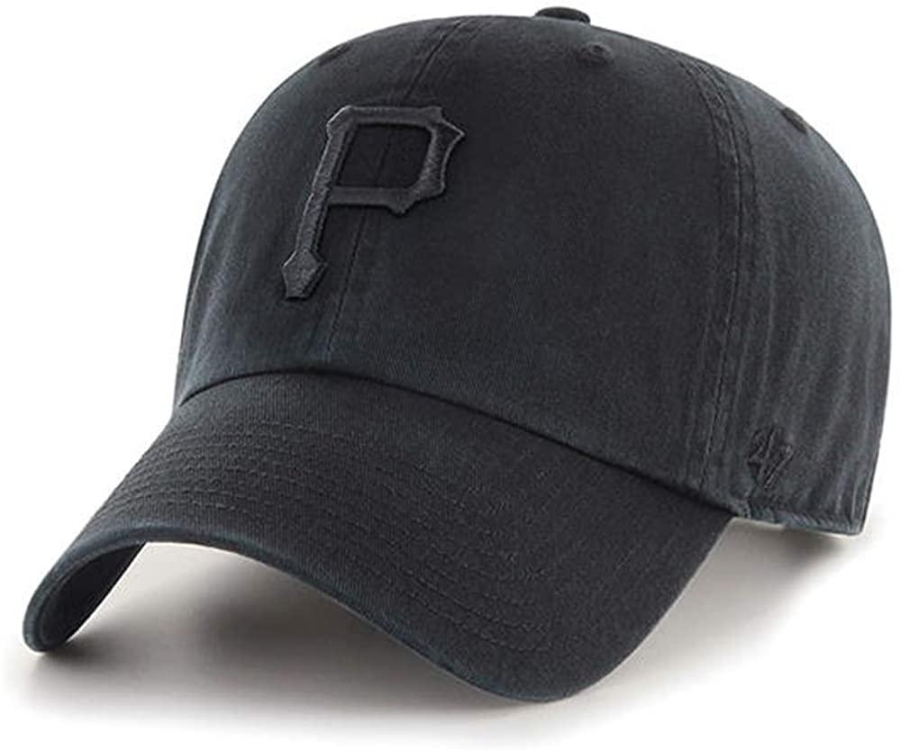 '47 Clean Up Brand Pittsburgh Pirates Men's Adjustable Strapback in Black