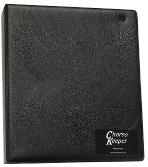 ChoreoKeeper Black Specialty Solid-back Binder for Display of Up to Six Pages (includes 4 Trifold Sheet Protectors)