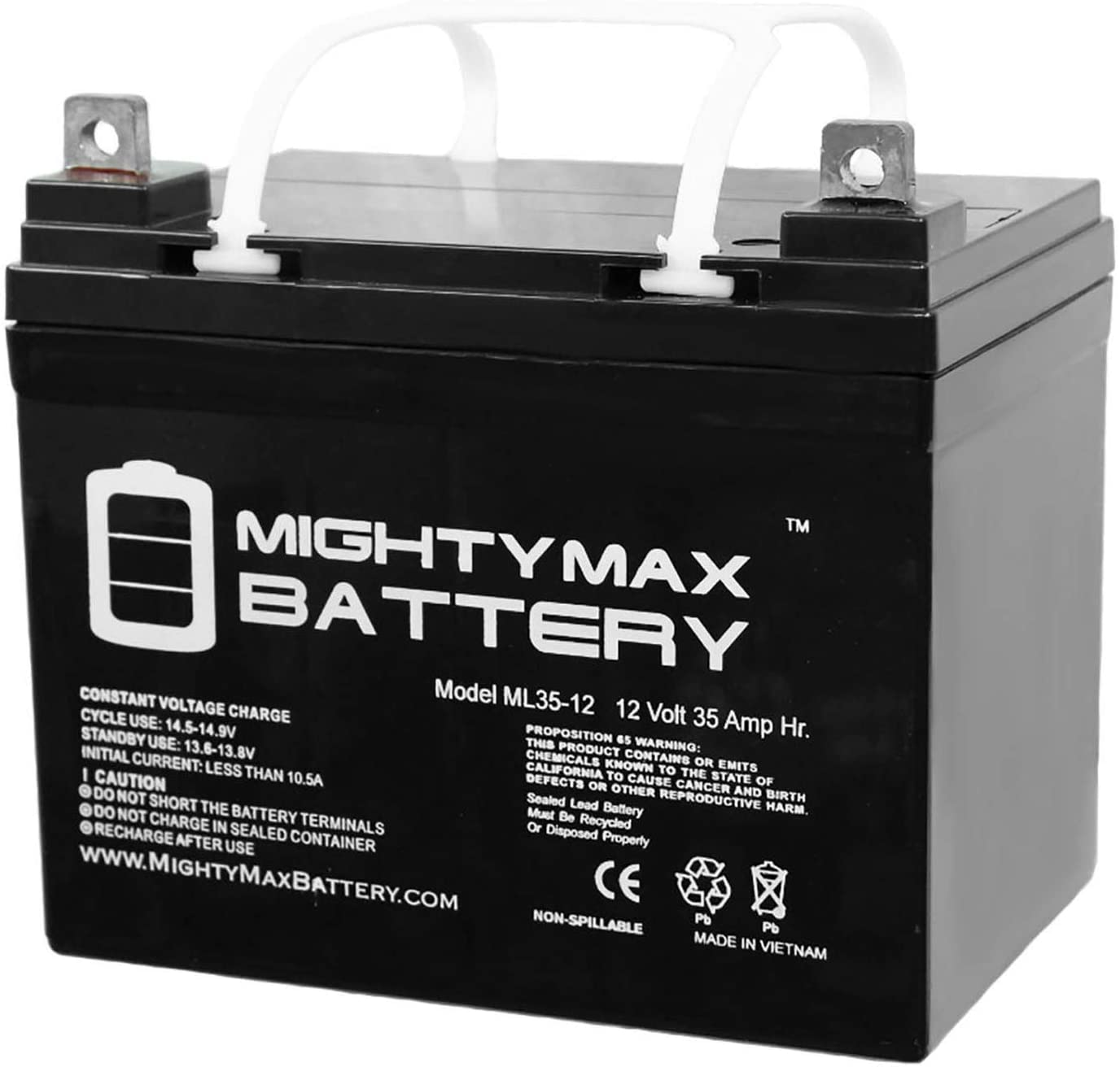 Mighty Max Battery ML35-12 - 12V 35AH Invacare Wheelchairs Action Arrow Replacement Battery Brand Product