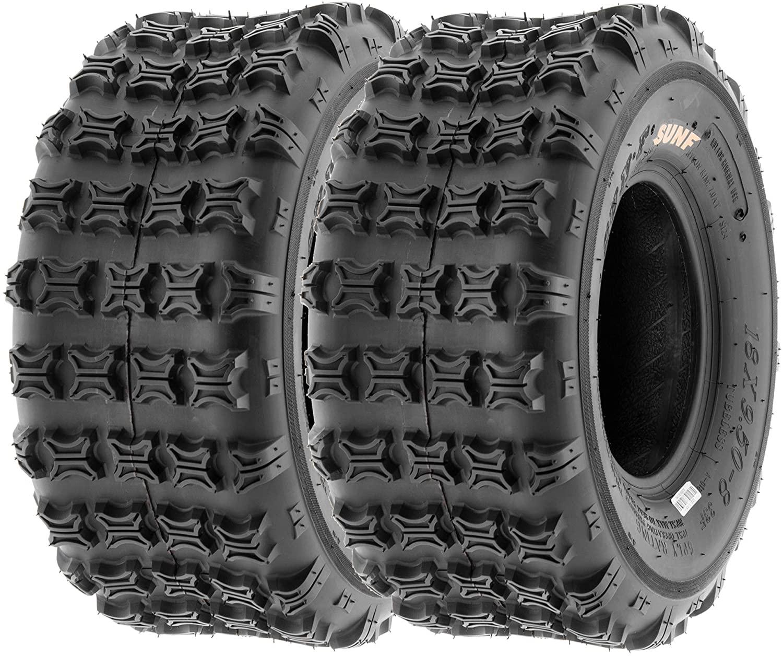 SunF 18x9.5-8 18x9.5x8 ATV UTV Tires 6 PR Tubeless A018 [Set of 2]