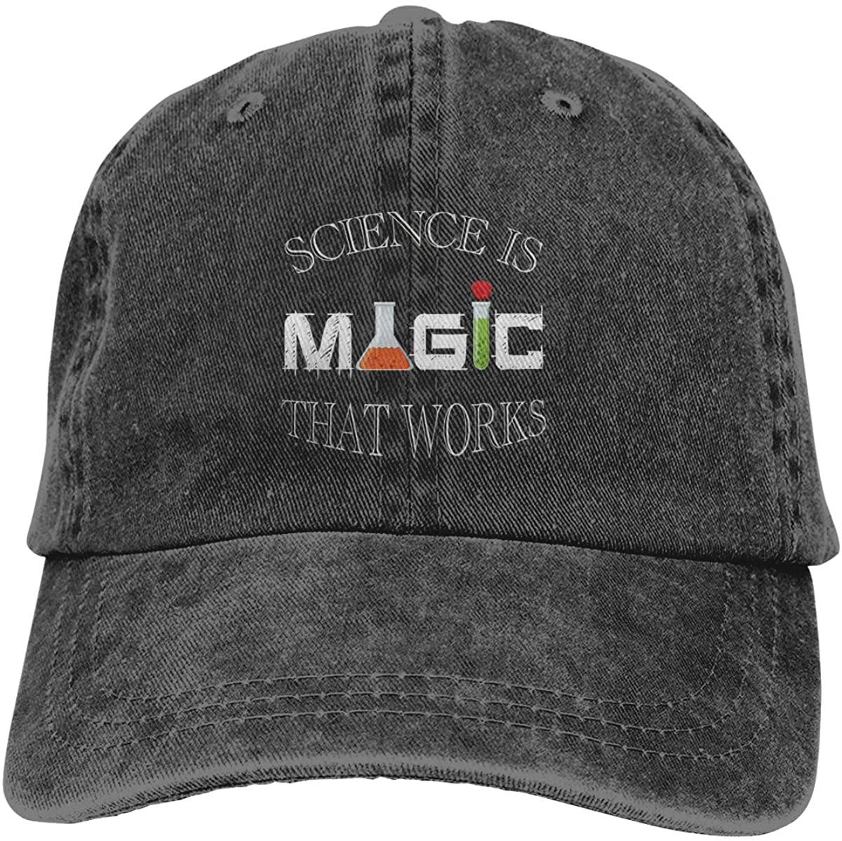 Kelo Science is Magic That Works Adjustable Unisex Hat Baseball Caps Black