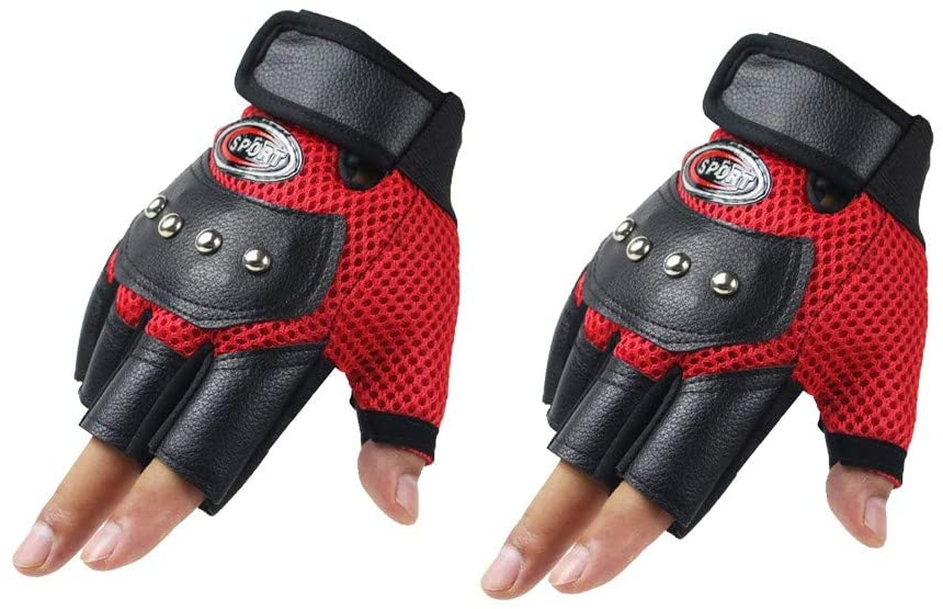 Cycling Gloves Sports Gloves Bicycling Gloves Mountain Bike Gloves Anti Slip Shock Absorbing Breathable Half Finger Short Sports Gloves Accessories