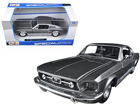 New 1:24 W/B MAISTO Special Edition - Grey 1967 Ford Mustang GT Diecast Model Car by Maisto