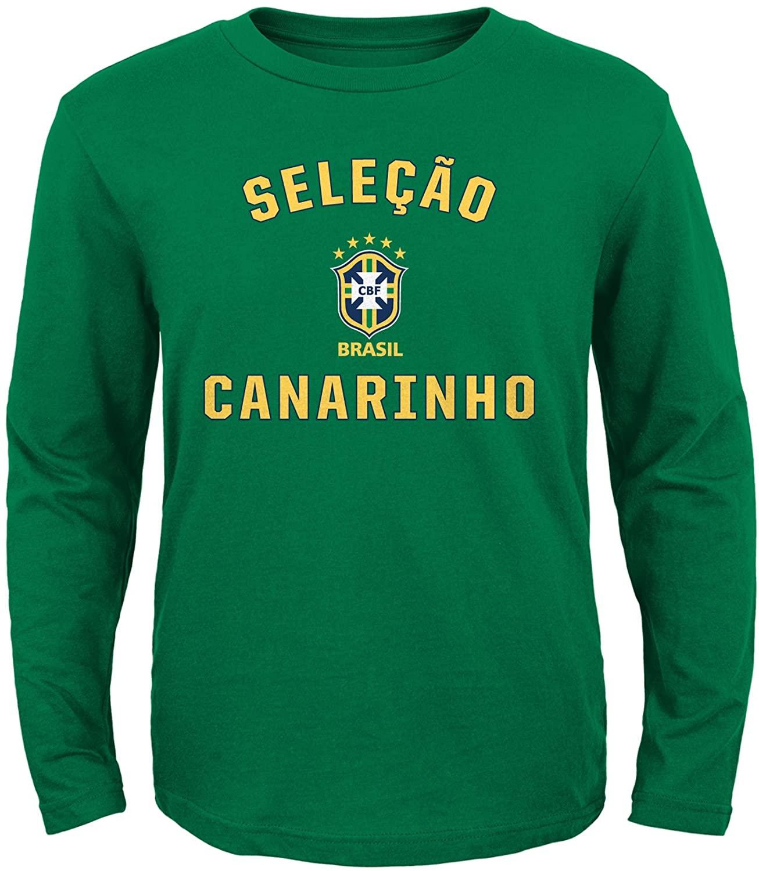 adidas Brazil Youth Selecao Canarinho L/S Green Shirt