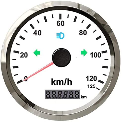ELING Universal GPS Speedometer 0-125km/h Odometer Adjustable 3 3/8