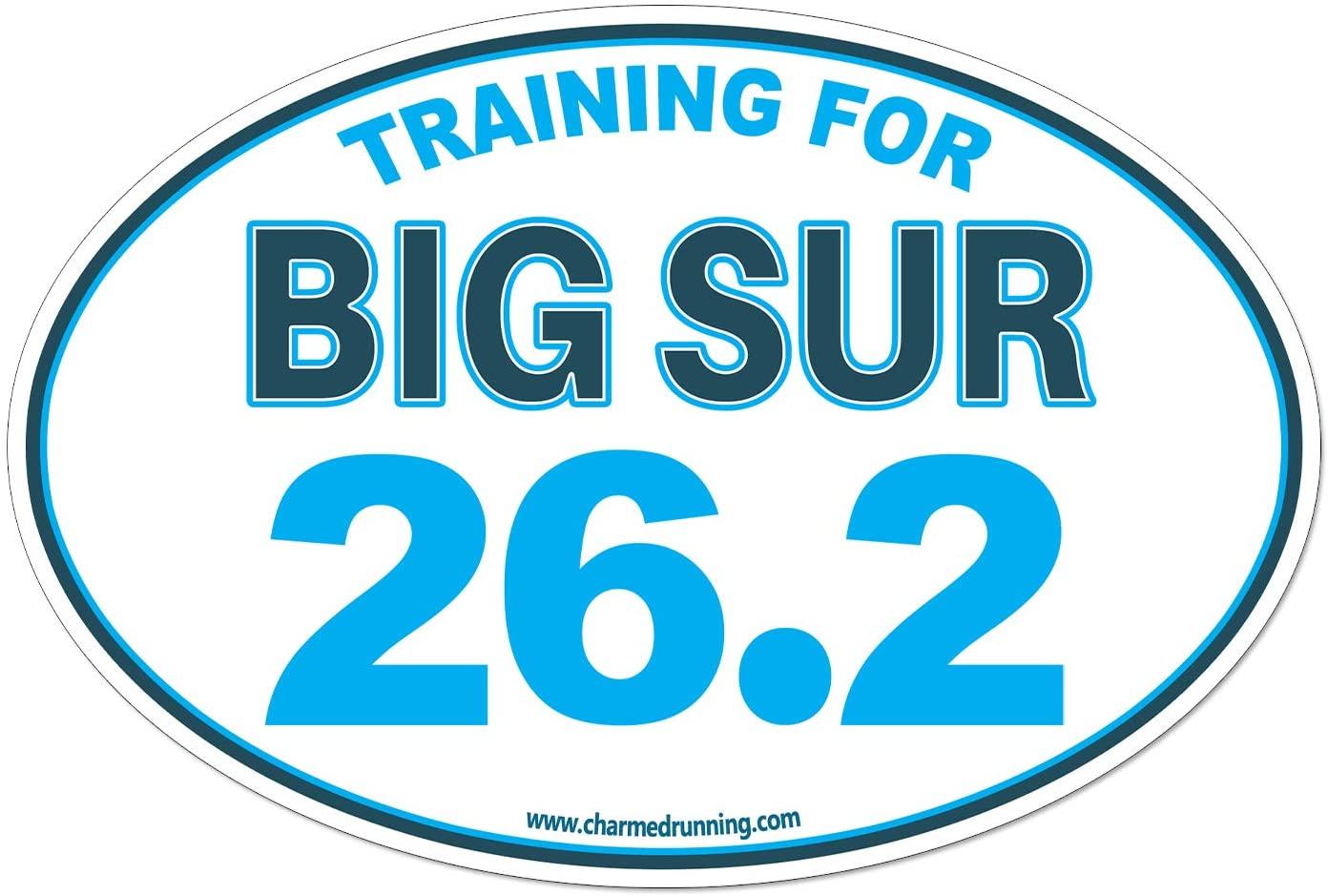 Charmed Running Training For Big Sur Marathon 26.2 Car Magnet