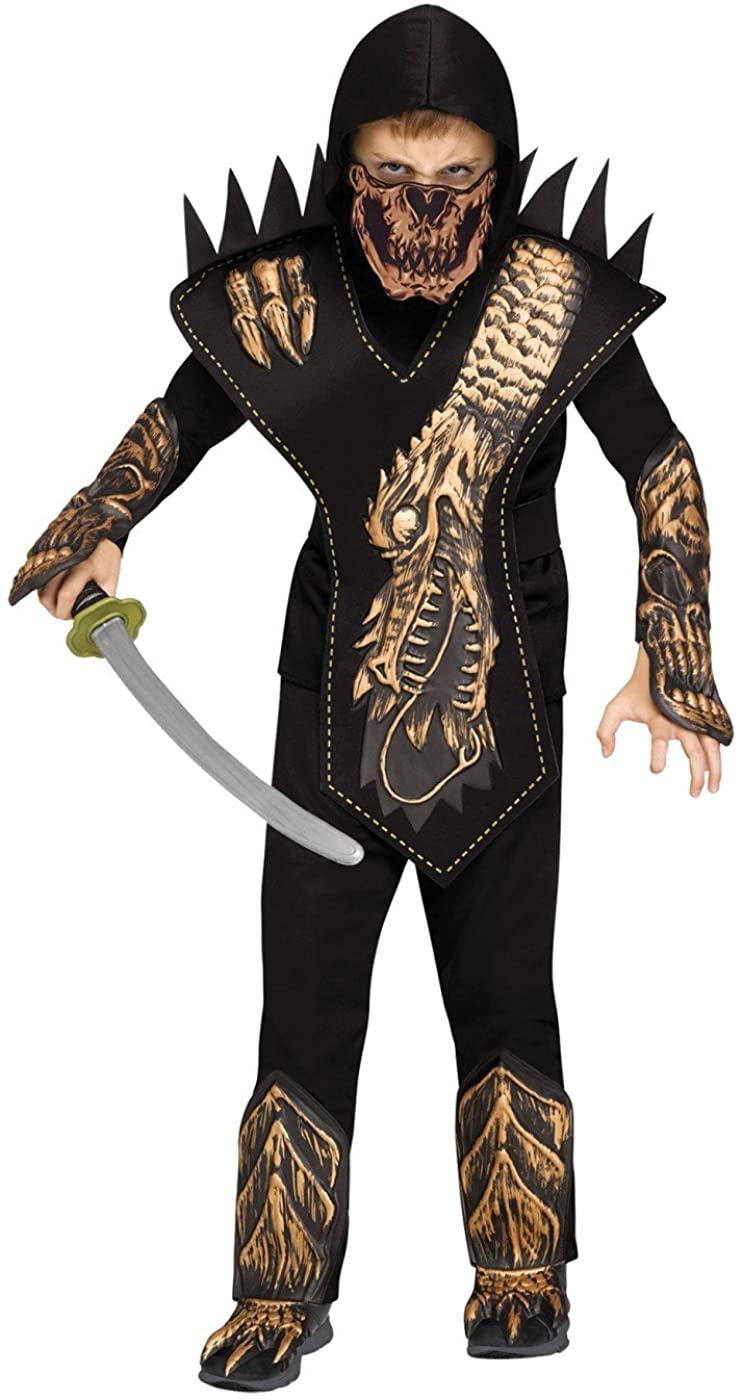 Little Boys Skull Dragon Ninja Costume