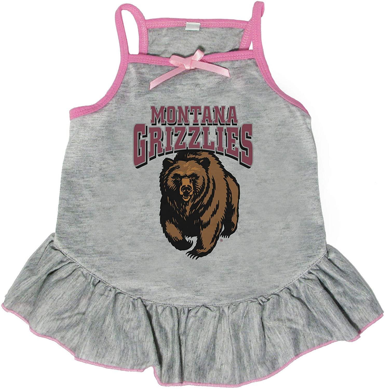 Littlearth NCAA Montana Grizzlies Pet Dress, Medium