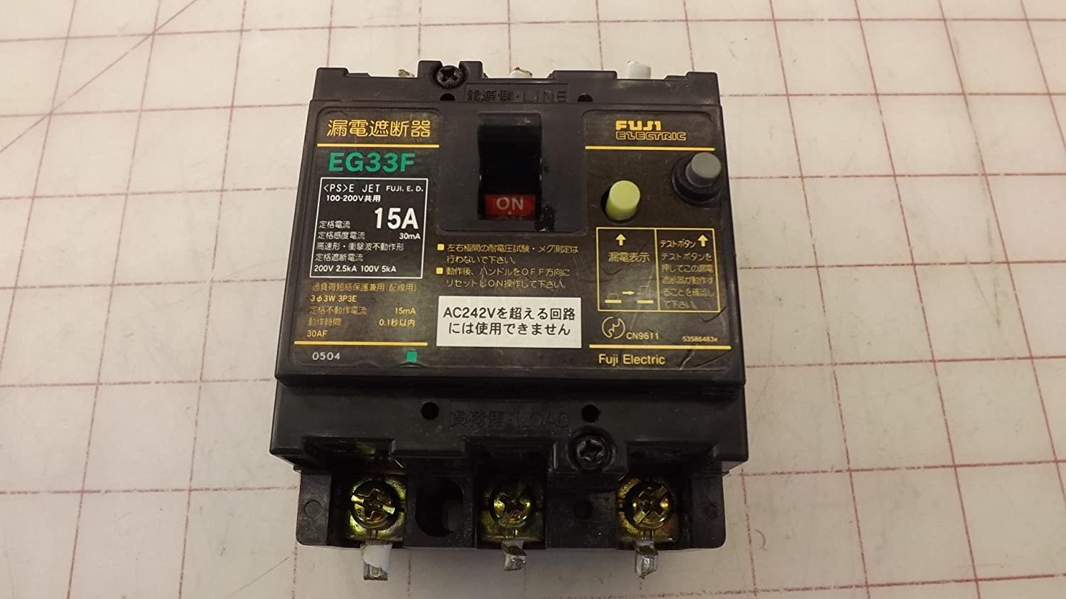 Fuji Electric EG33F Circuit Breaker T141026