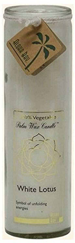 Aloha Bay Chakra Candle Jar, White Lotus, 17 oz