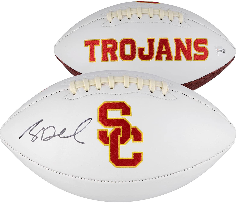 Sam Darnold USC Trojans Autographed White Panel Football - Fanatics Authentic Certified - Autographed College Footballs