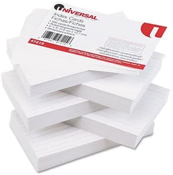 Ruled Index Cards, 3 x 5, White, 500 per Pack [Set of 2]