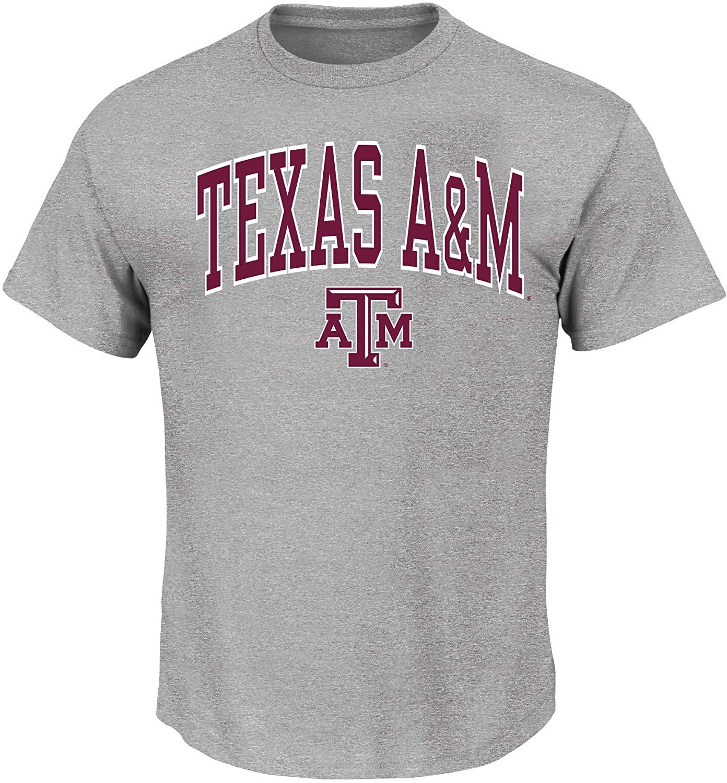 NCAA Texas A&M Aggies Mens Texas A&MUniversity Mens Big and Tall Short Sleeve Cotton Tee Shirt, Heathergrey, 3X