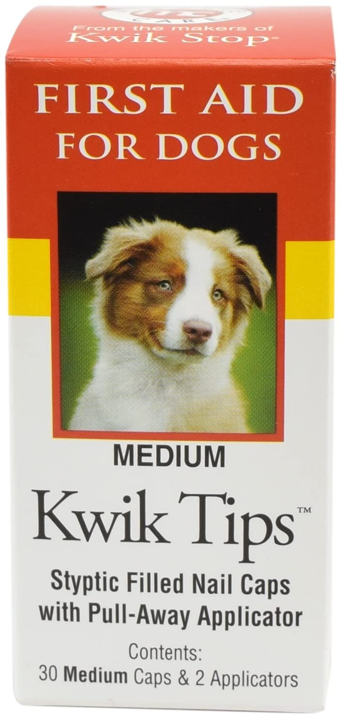 Kwik Stop Styptic Filled Nail Caps for Dogs