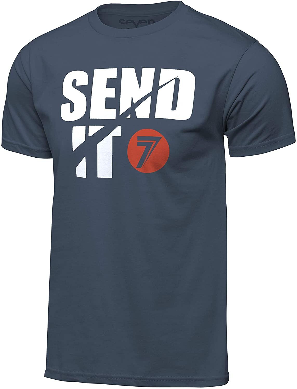 Seven Men's Send-It Tee 20.1 (Indigo Blue, L)
