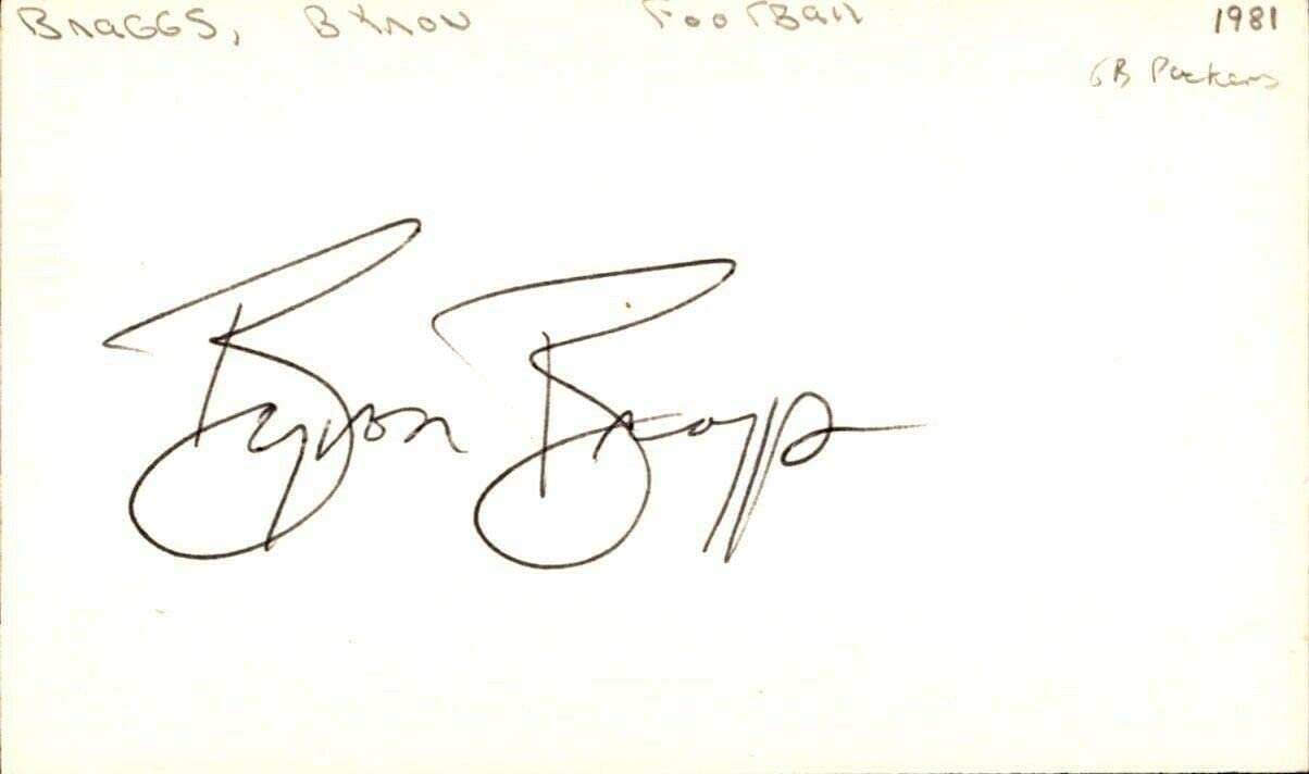 Byron Braggs Signed Index Card 3x5 Autographed Alabama Tide 63628