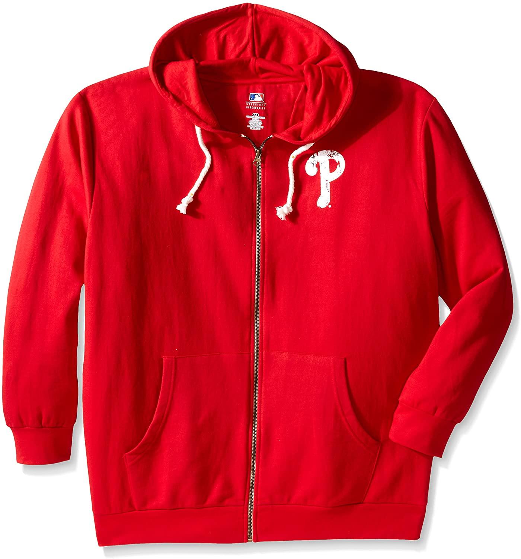Profile Big & Tall MLB womens Plus Size Zip Hood with team logo Lft chest