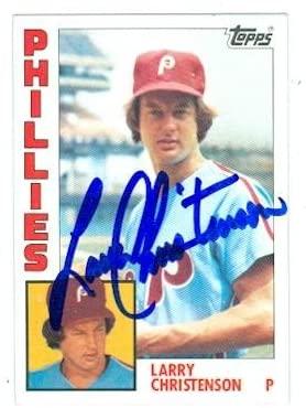 Larry Christenson autographed baseball card (Philadelphia Phillies) 1984 Topps #252