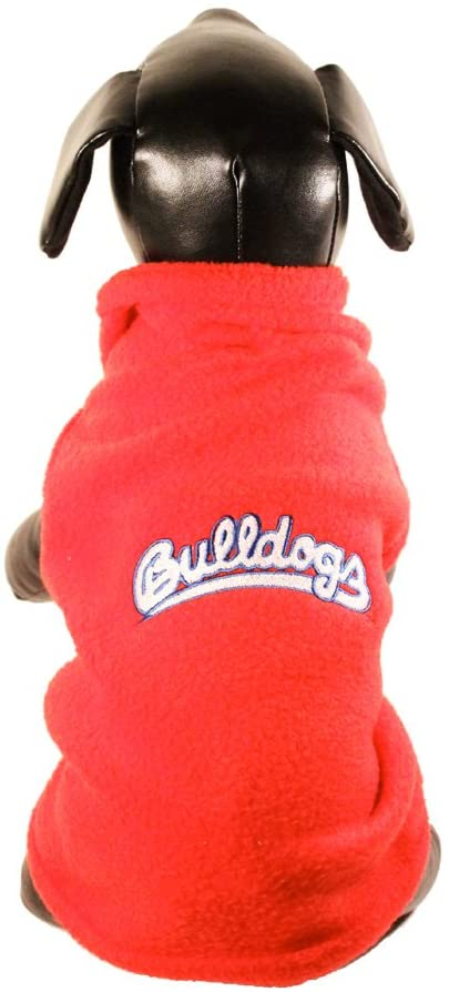 NCAA Fresno State Bulldogs Sleeveless Polar Fleece Dog Sweatshirt, Small