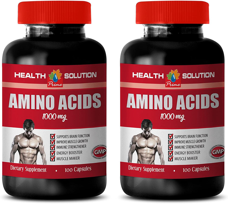 Muscle Builder Capsules - Amino ACIDS 1000 mg - l-lysine and l-arginine - 2 Bottles 200 Capsules