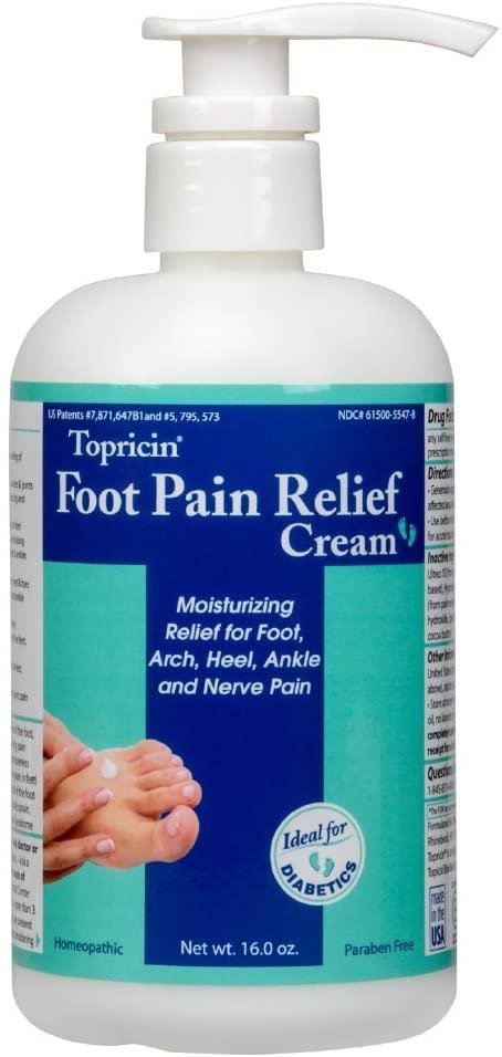 Topricin Foot Pain Relief Cream (16 oz)