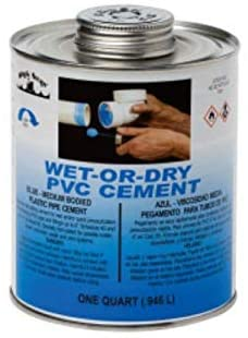 FixtureDisplays Wet-Or-Dry PVC Cement (Blue) - Medium Bodied 07080-BLACKSWAN-12PK-NF No